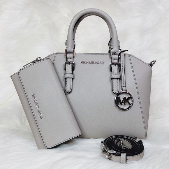 505b422557a01b Michael Kors Bags | 2pcs Ciara Medium Satchel Wallet Set | Poshmark